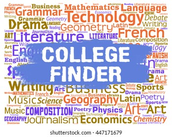 College Finder Representing Search For And Discover School