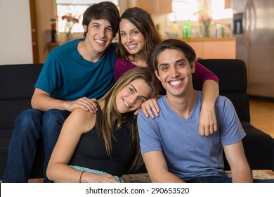 College friends gathered in group affection love and couples date night buddies