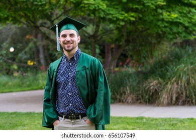 College Grad on Campus in Oregon