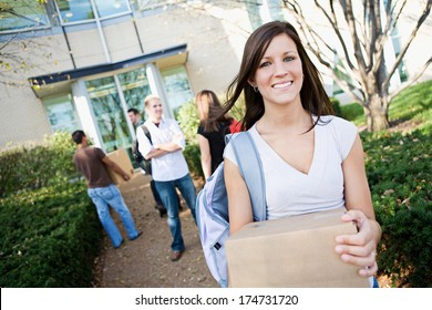 College: Move In Day For New Students At the Dorm