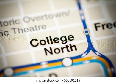 College North Station. Miami Metro map.