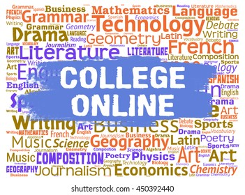 College Online Meaning Web Site And Study