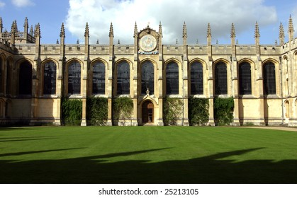 College at Oxford university, England