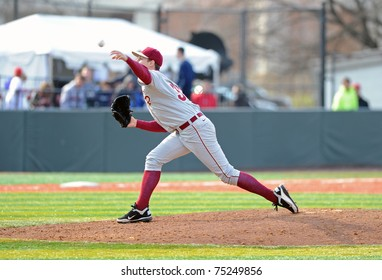 COLLEGE PARK, MD - APRIL 2: Florida State University pitcher Connor Nolan delivers a pitch during a game against Maryland on April 2, 2011 in College Park, MD.