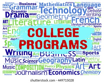 College Programs Indicating Word Schooling And Studying