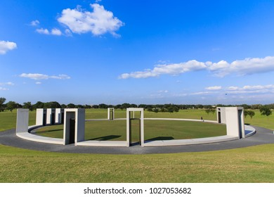 COLLEGE STATION, TEXAS - JUNE 10, 2017 - The Bonfire Memorial on the site of the accident at Texas A & M University, Texas.