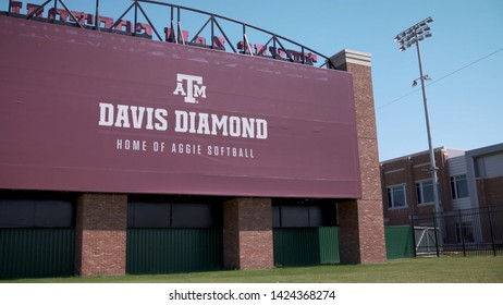 College Station, Texas - June 12 2019: Texas A&M Davis Diamond exterior