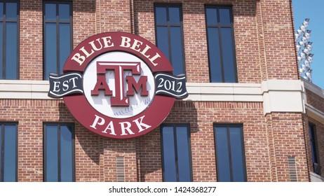 College Station, Texas - June 12 2019: Texas A&M Blue Bell baseball stadium