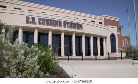 College Station, Texas - June 12 2019: Texas A&M E. B. Cushing Track & Field stadium