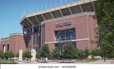 College Station, Texas - June 12 2019: Texas A&M Kyle Field exterior establishing