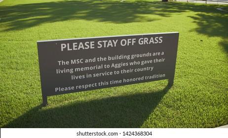 College Station, Texas - June 12 2019: Texas A&M grass memorial