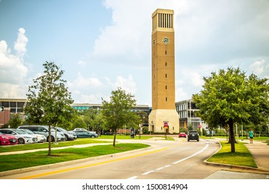 College Station, Texas, USA - 01 September 2019: Albritton Bell Tower on campus of Texas A&M University
