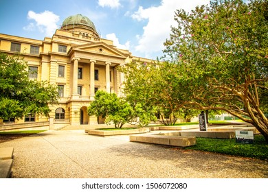 College Station, Texas, USA - 01 September 2019: The Academic Building at Texas A&M University