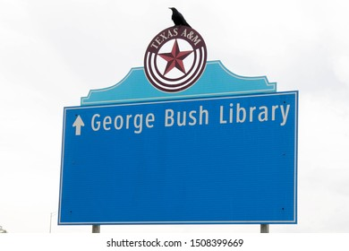 College Station, USA, May 22 2018. The George Bush library is dedicated to the president of USA at the University of College Station. Since 1997 It holds the president and his wife Barbara tombs.