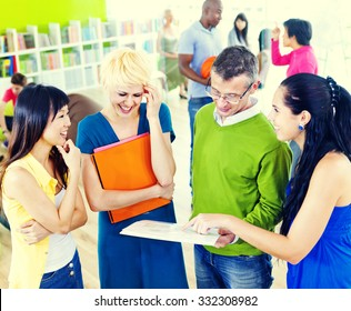 College Students Learning Education University Teaching Concept