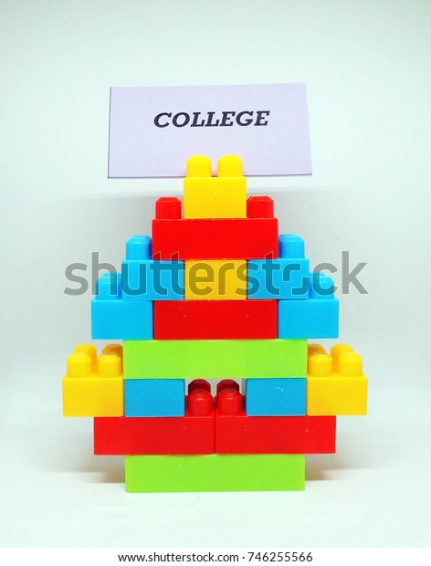 College word with toys