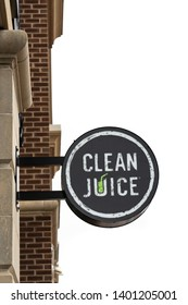 Collegeville, PA - May 9, 2019: Clean Juice is the only USDA certified organic juice bar franchise. The Providence Town Center location is one of over 100 locations open or in development in 16 states