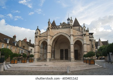 Collegiale Notre Dame in Beaune is a canonical collection dating from the second half of the 12th century, Beaune, Burgundy, France - September, 2015
