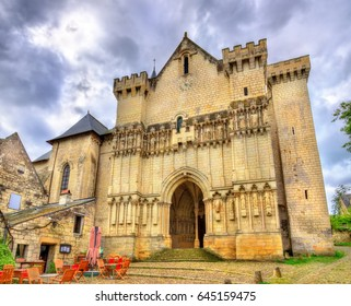 Collegiale Saint-Martin de Candes, a church on the bank of the Vienne - France, Indre-et-Loire
