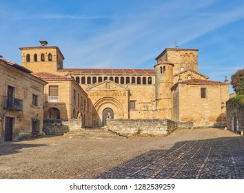 The collegiate church of Santa Juliana in Santillana del Mar, Cantabria, Spain.Important Romanic building, declared in 1989, National monument of Spain.