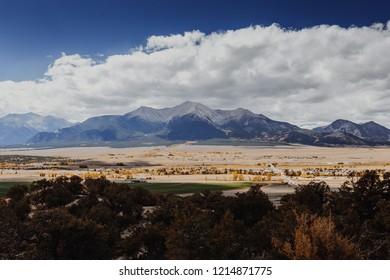 The collegiate range in Colorado in fall