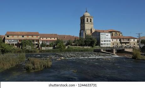 Collegiate of San Miguel in the city of Aguilar de Campoo, Palencia, Spain.