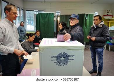 Collegno, Italy - December 4, 2016: voting for Italian constitutional referendum, December 4, 2016