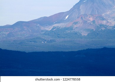 Collier Cone and Little Brother, from Carpenter Mountain fire lookout, H.J. Andrews Experimental Forest, Willamette National Forest, Oregon, USA