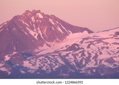 Collier Glacier and North Sister, from Carpenter Mountain fire lookout, H.J. Andrews Experimental Forest, Willamette National Forest, Oregon, USA