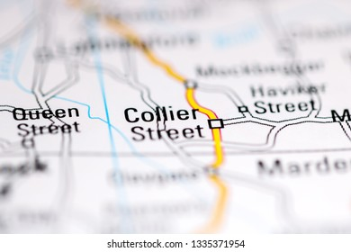 Collier Street. United Kingdom on a geography map