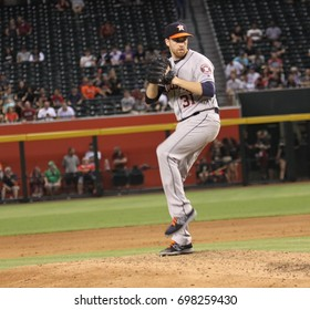 Collin McHugh pitcher for the Houston Astros at Chase Field in in Phoenix AZ USA August 14,2017.