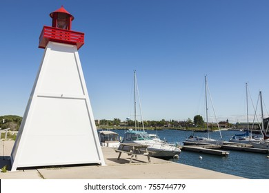 Collingwood Lighthouse by Lake Huron. Ontario, Canada.