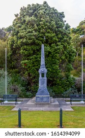 Collingwood, New Zealand - 22 December 2019: The Collingwood Memorial, remembering 54 citizens that died in the War