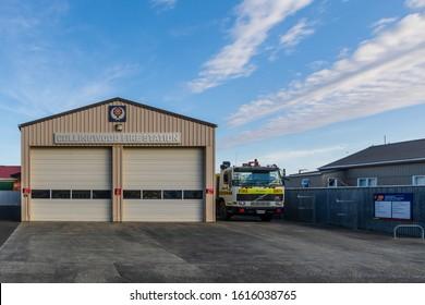Collingwood, New Zealand - 22 December 2019: Collingwood Fire Station