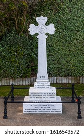 Collingwood, New Zealand - 22 December 2019:  Tombstone to Captain Harry Bolton Riley, killed in action 1916. It is part of the the Collingwood Memorial.