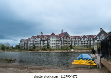 Collingwood, Ontario, Canada - May 19, 2018: Blue Mountain activities during summer