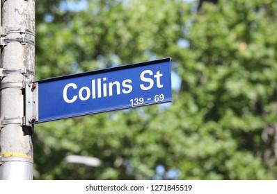 Collins street shopping street Melbourne Australia