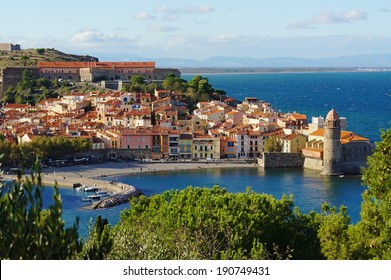 Collioure, coastal village in the south of France, Mediterranean sea, Languedoc Roussillon, Pyrenees Orientales