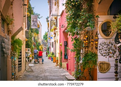 COLLIOURE, FRANCE - 02 June 2017: Narrow streets of picturesque Collioure