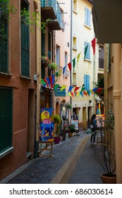 COLLIOURE, FRANCE - MAY 11, 2017: