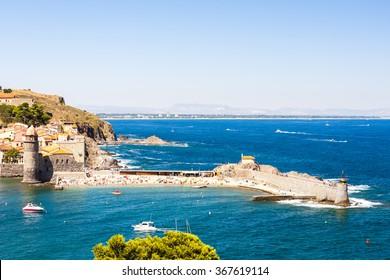 Collioure harbour, Languedoc-Roussillon, France