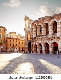 Colliseum in Verona city, Italy