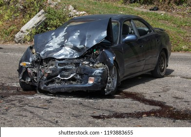 A collision between two vehicles due to reckless driving