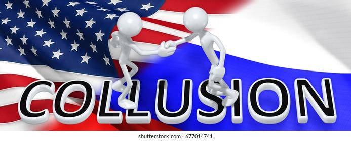 Collusion Handshake The Original 3D Characters Illustration