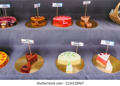 COLMAR, FRANCE - CIRCA MARCH 2018: Soaps that look like cakes, sold at the market in Colmar, France.