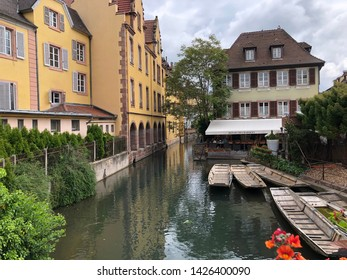 Colmar, France - May 19 Colmar old town or Little Venice at Colmar taken May 19, 2019 in France