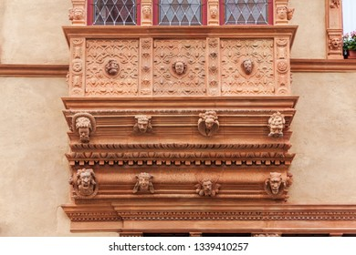 Colmar, France - May 27, 2012: Maison des Tetes, the House of heads building in Colmar, Alsace France.