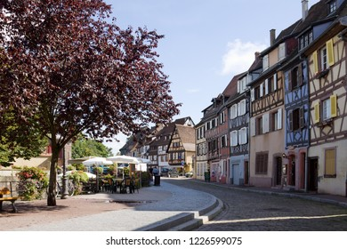 COLMAR, FRANCE - SEPTEMBER 10, 2010: Colmar cityscape. Alsace, France. Colmar is the capital of the Haut-Rhin department in Alsace. It is situated along the Alsatian Wine Route.