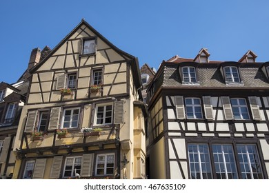 Colmar, historic half-timbered houses on Place de Dominicains, France