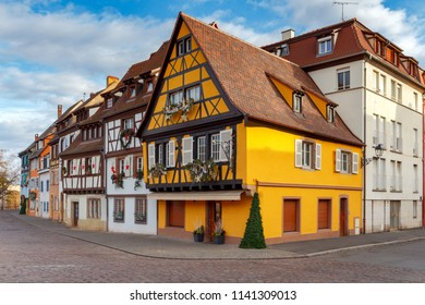 Colmar. The old half-timbered houses.